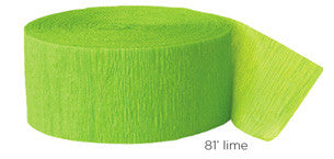 crepe paper solid - lime
