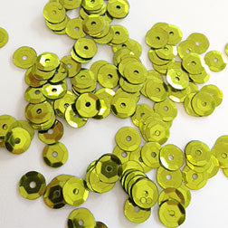 sequins 6mm - lime