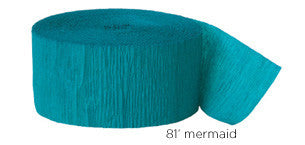 crepe paper solid - mermaid