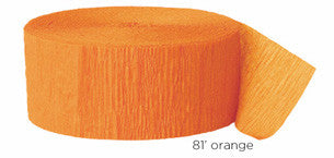 crepe paper solid - orange