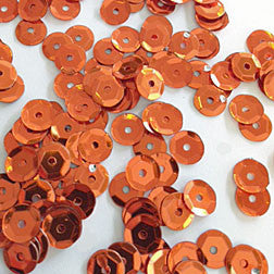 sequins 6mm - orange