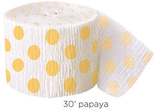 crepe paper dot - papaya