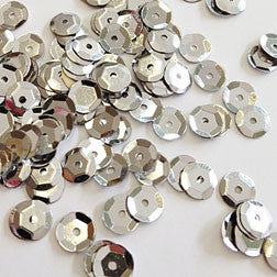 sequins 6mm - silver