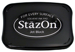 staz-on ink pad - jet black