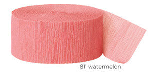 crepe paper solid - watermelon