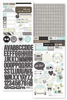 snap cardstock sticker sheets - wedding