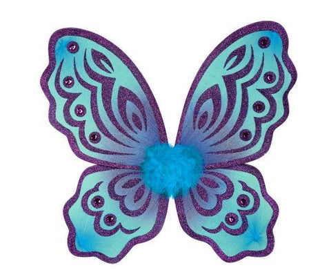 Butterfly Wings Turquoise and Purple