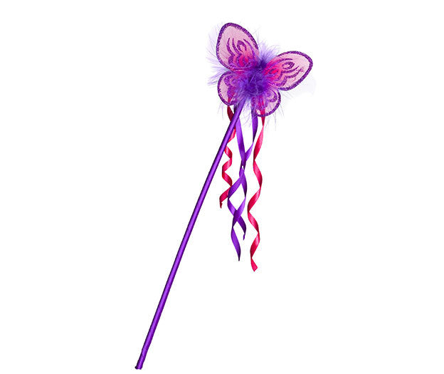 Butterfly Wand Purple and Fuchsia