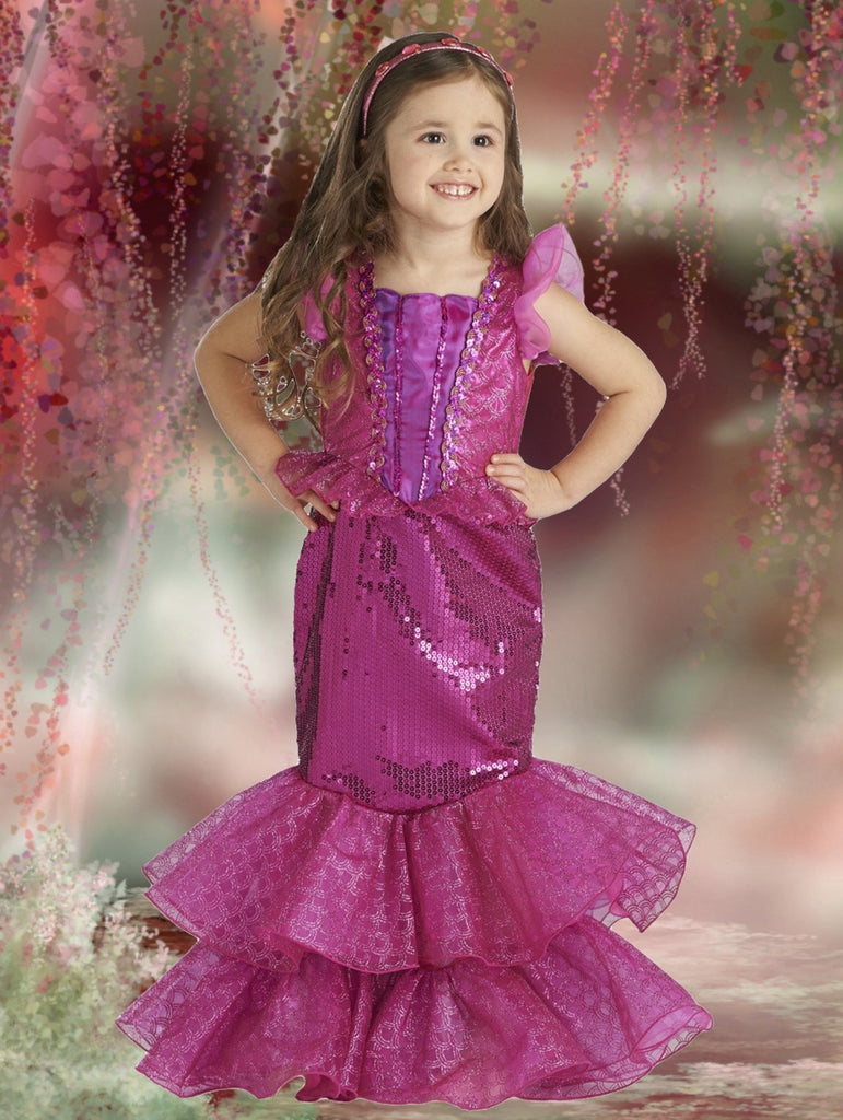 Enchanted Sea Princess Dress - Fuchsia/Purple