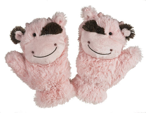 Pink Cow Mittens