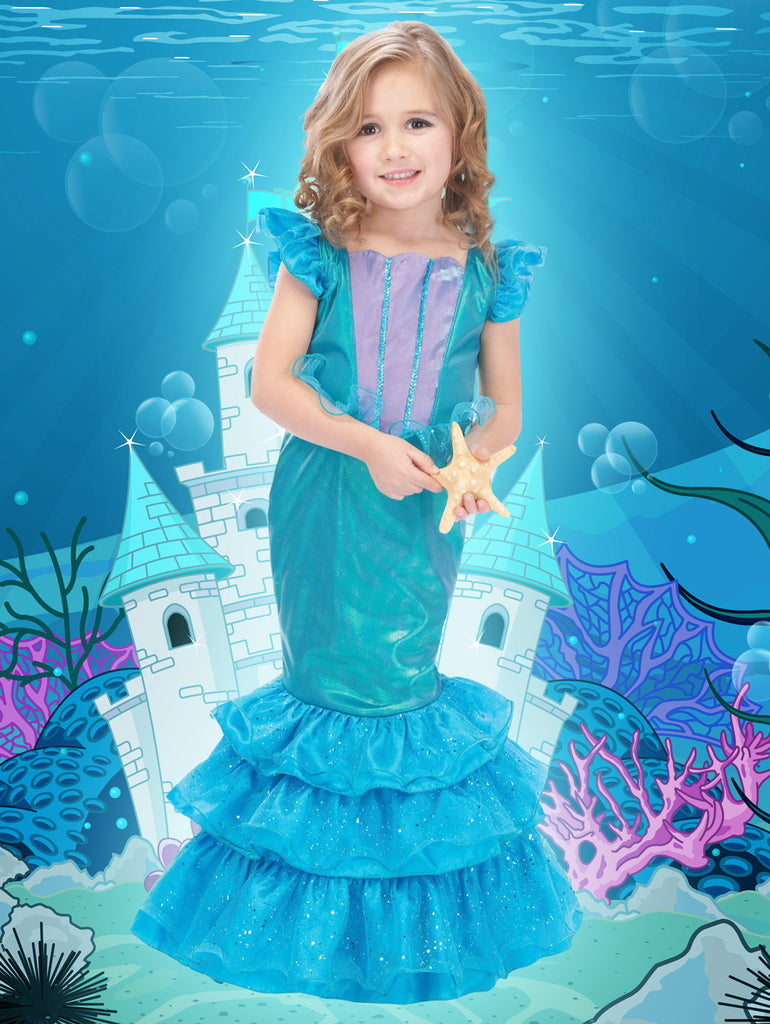 Ocean Mermaid Princess Dress