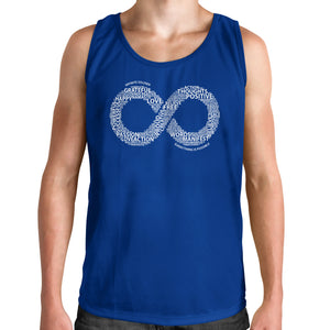 Men's Muscle Tank Infinity Word Art Graphic T-Shirt - Blue