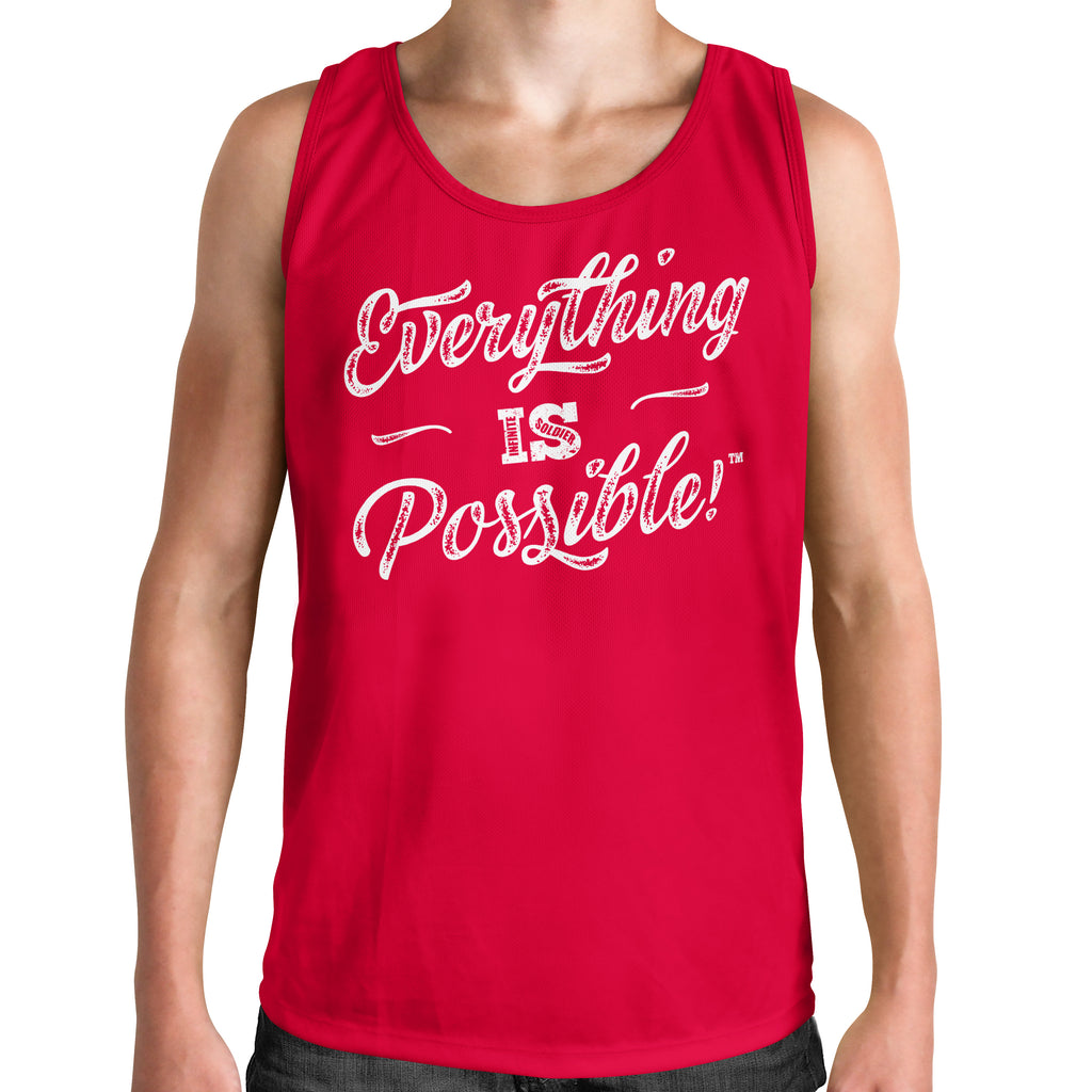 Men's Muscle Tank Everything is Possible Graphic T-Shirt - Red