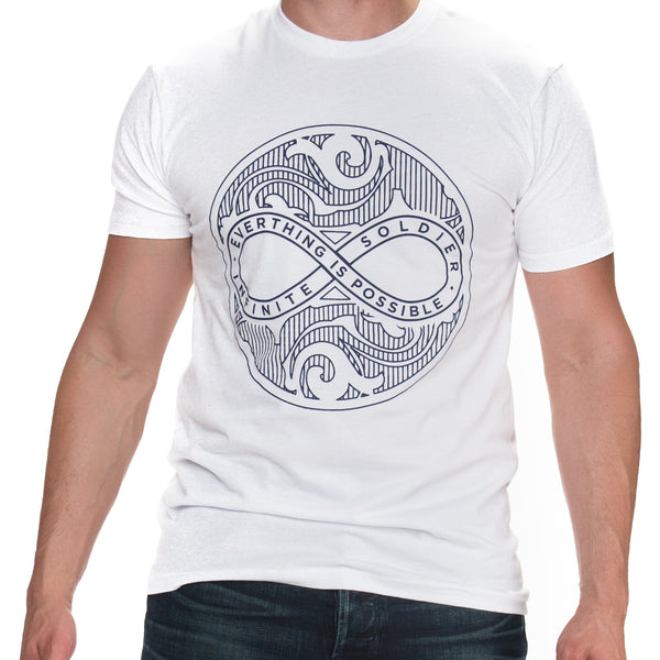 Men's Infinite Circle of Peace White Short Sleeve T-Shirt
