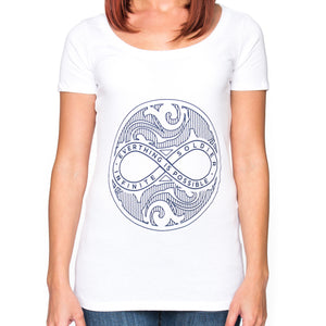 Infinite Circle of Peace Ladies Short Sleeve Scoop Neck T-Shirt