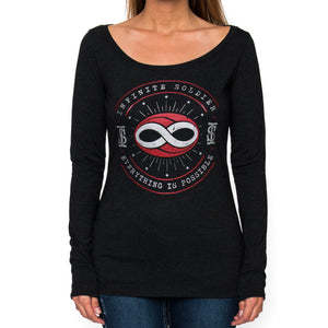 Ladies Constellation Infinity Long Sleeve T-Shirt - Black