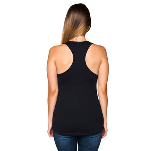 Constellation Infinity Ladies Racer Back Tank Top - Black