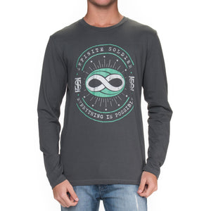 Men's Constellation Infinity Long Sleeve T-Shirt - Heavy Metal