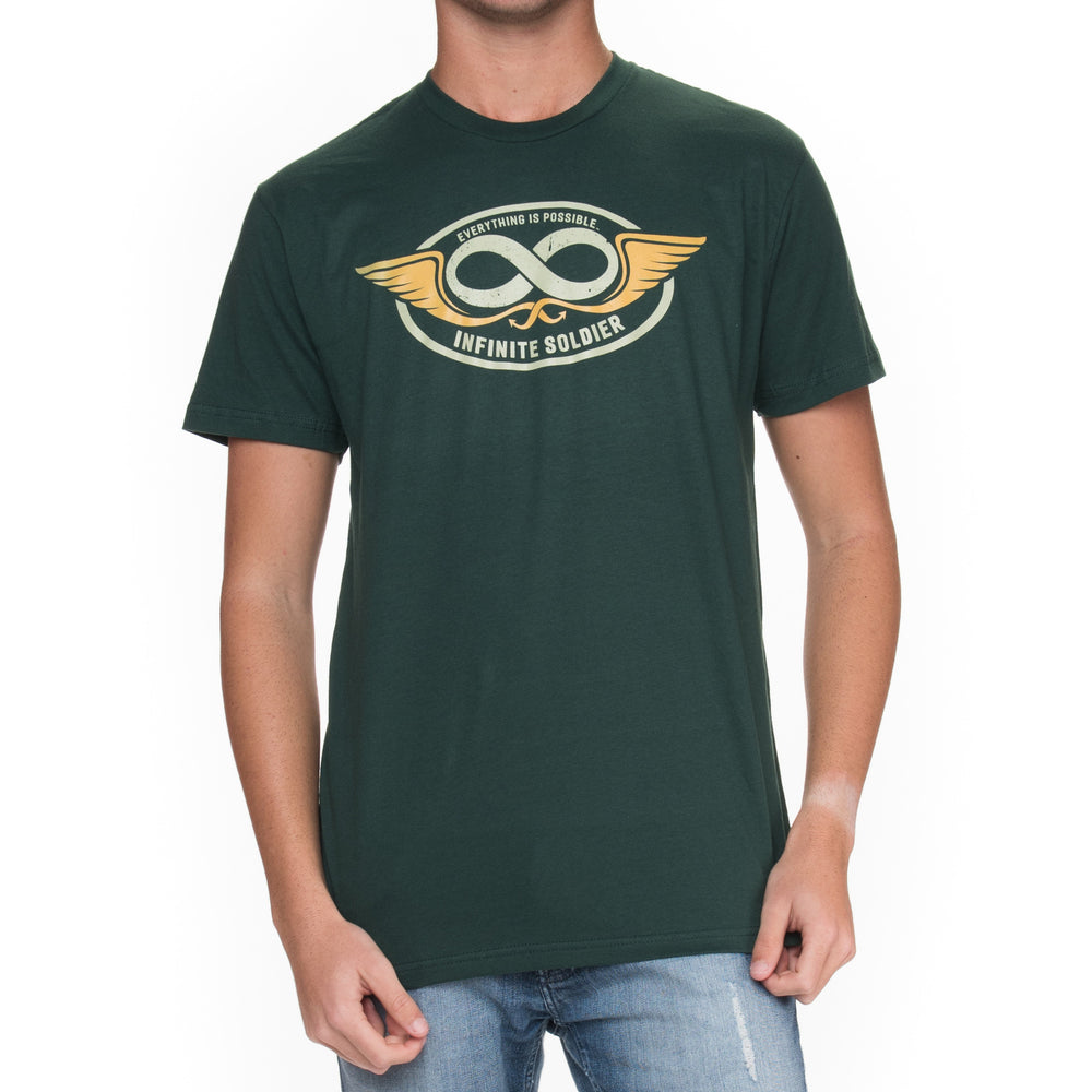 Men's Infinity Wings Short Sleeve T-Shirt - Forest Green