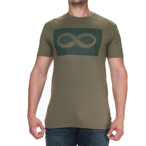 Men's Infinity in a Box Military Green Graphic T-Shirt