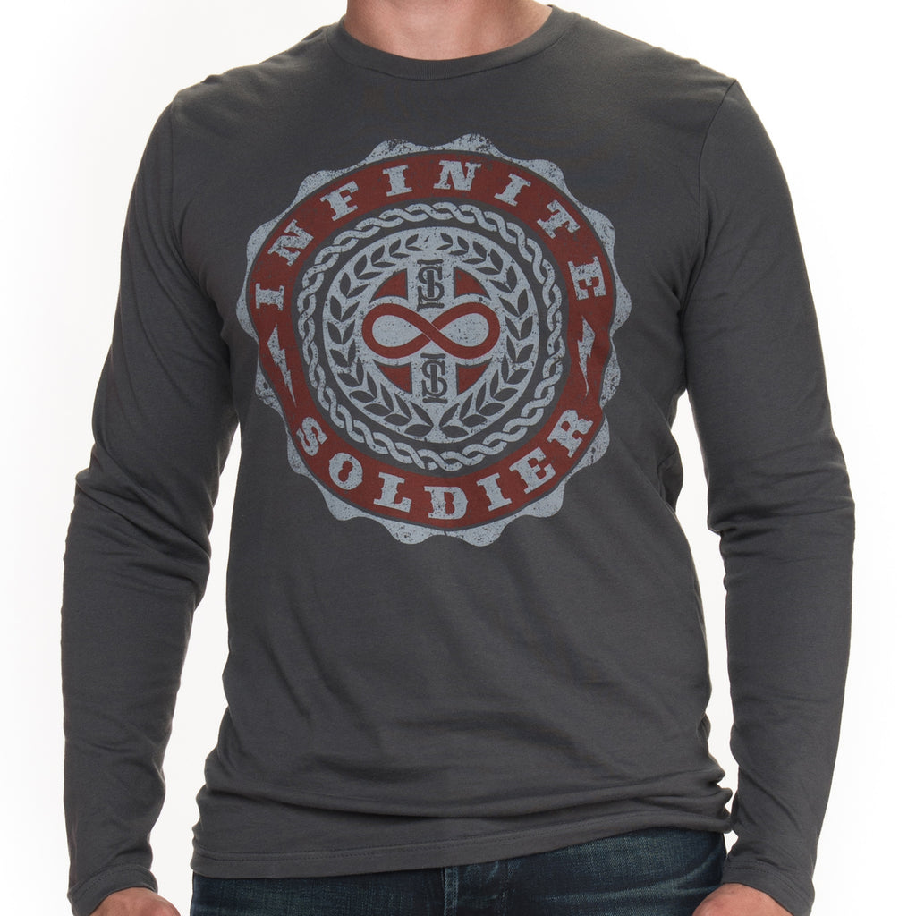 Men's Infinity Emblem Long Sleeve Tee - Heavy Metal
