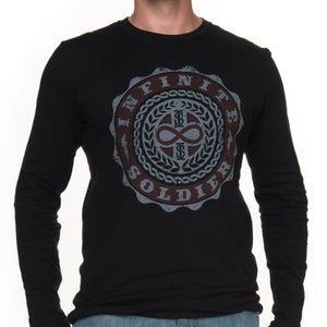 Men's Infinity Emblem Black Long Sleeve Tee