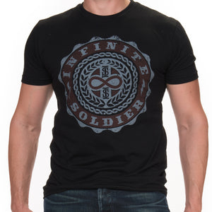 Men's Infinity Emblem Black Short Sleeve Tee