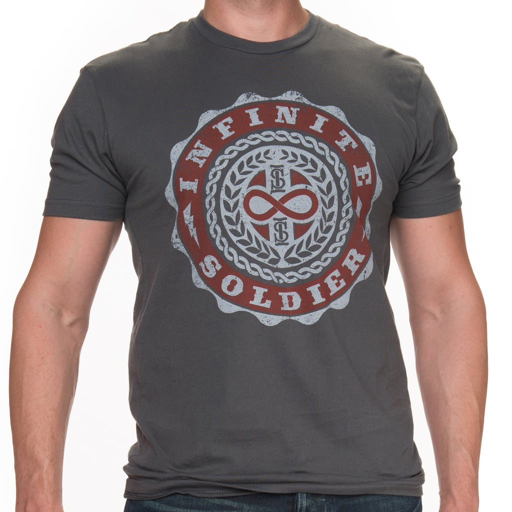 Men's Infinity Emblem Short Sleeve Tee - Heavy Metal