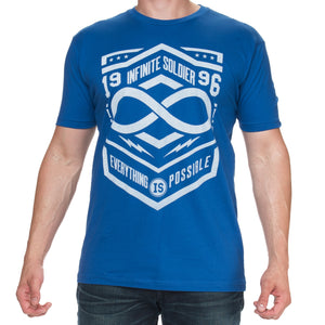 Men's Everything is Possible Short Sleeve Graphic Tee - Royal Blue & White