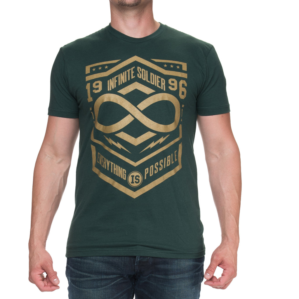 Men's Everything is Possible Short Sleeve Graphic Tee - Forest Green & Gold