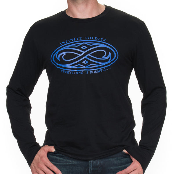 Gothic Infinity Long Sleeved Graphic T-Shirt for Men