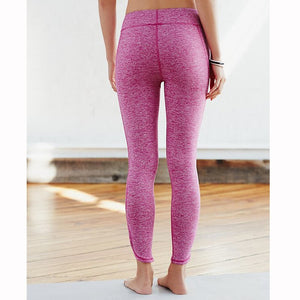 Ladies Yoga Infinity Symbol Cropped Leggings / Yoga Leggings / Pants - Pink Heather
