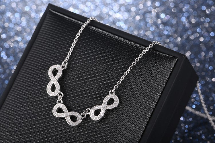 Triple Infinity Charm Necklace