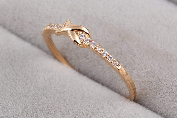 Cross Infinity Knuckle Ring in Gold