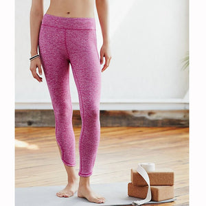 Infinity Symbol Cropped Leggings Yoga Leggings Yoga Pants made with polyester and cotton with an elastic waist in pink and white