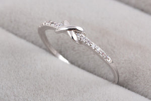 Cross Infinity Knuckle Ring in Silver