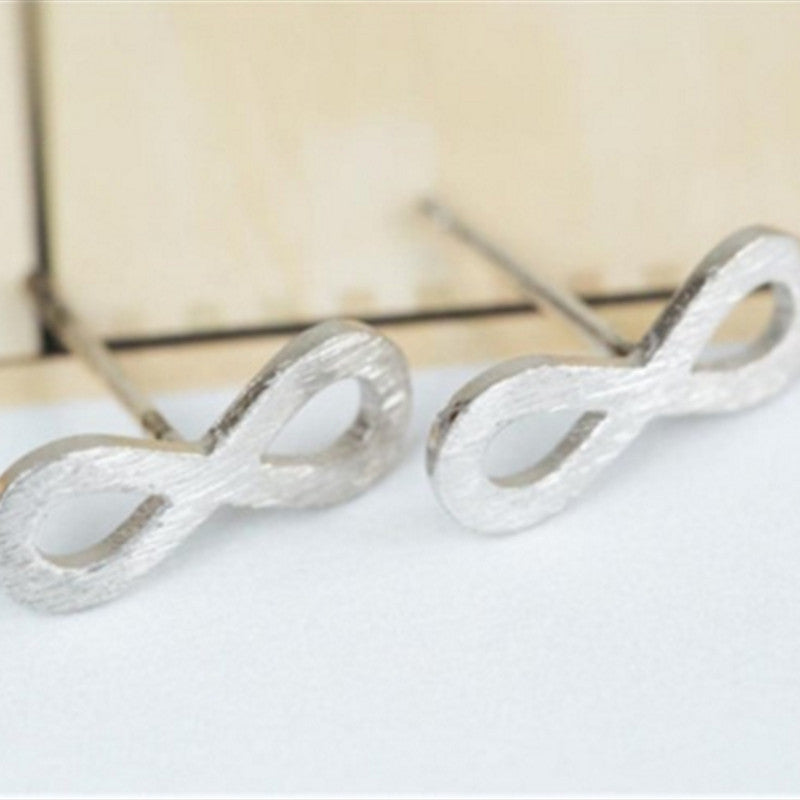 Silver Plated Infinity Stud Earrings