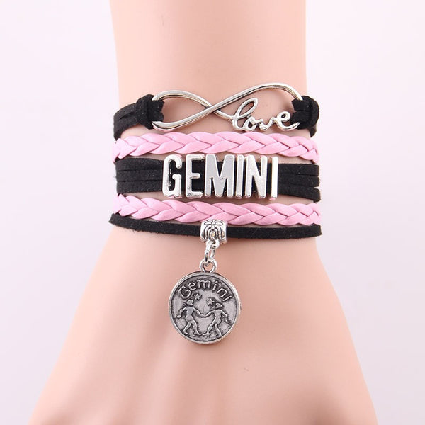 Astrological Sign Infinite Love Wrap Bracelets
