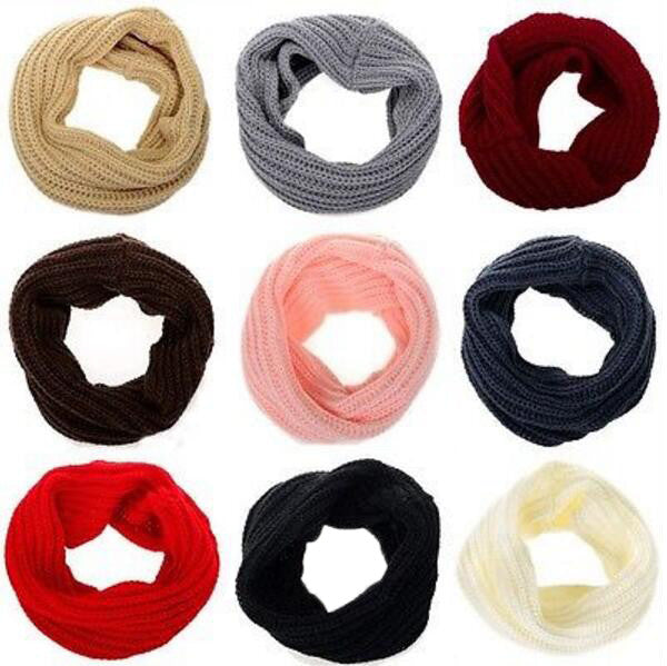 Infinity Scarf with Cowl Neck Design made with knitted wool