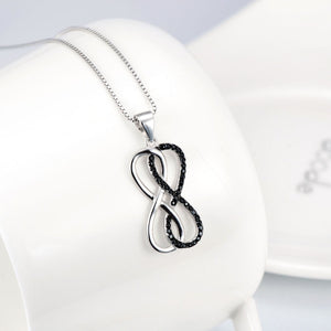 Forever Love Double Infinity Pendant Necklace