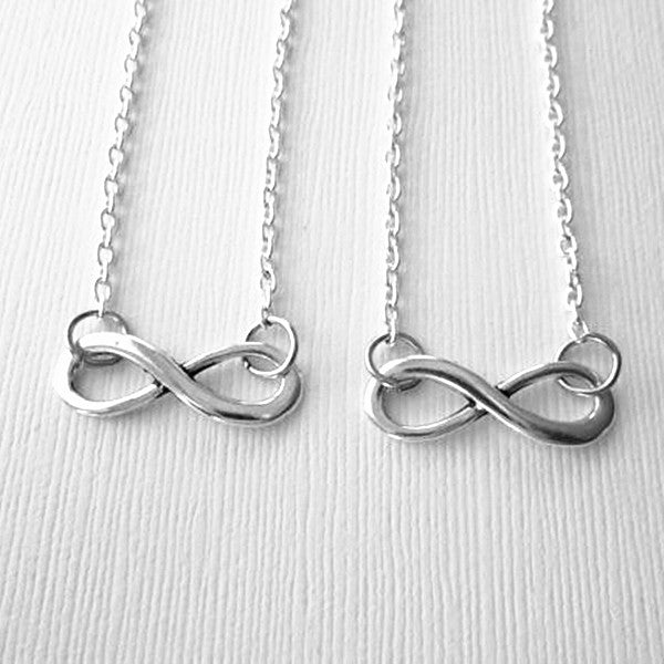 Antique Unisex Silver Infinity Symbol Pendant Necklace Casual and Formal Women Men