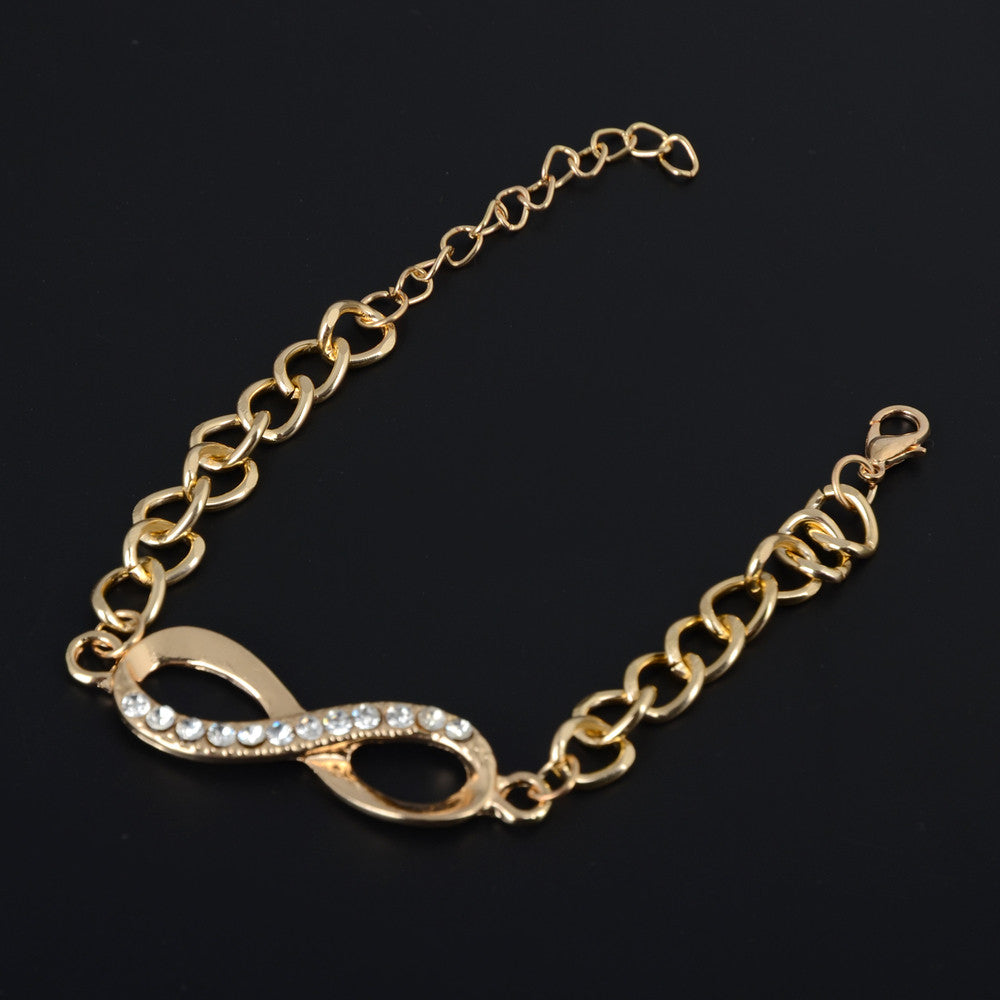 Gold infinity sign bracelet from Infinite Soldiers Infinity jewelry