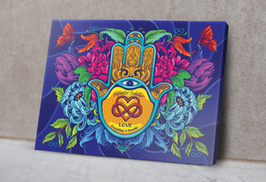 Hamsa Infinity Motivational Canvas Poster