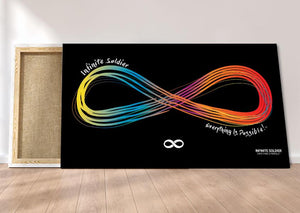 infinity motivational canvas print - infinity pride