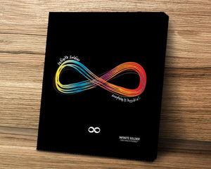 Infinity Symbol LGBT Rainbow Mounted Canvas Wall Poster