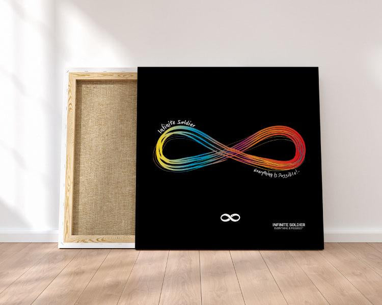 Motivational Canvas Print - Infinity Pride LGBT