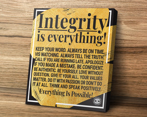 Motivational Canas Art Poster Print - Integrity Is Everything