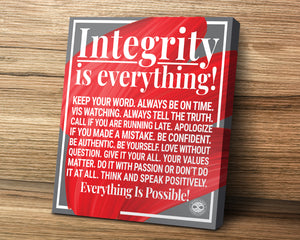 Motivational Canvas Poster Wall Decor - Integrity Is Everything