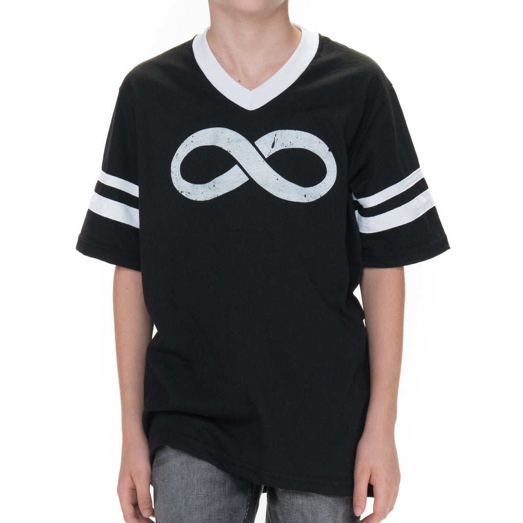 Youth Infinity Jersey Short Sleeved Graphic T-Shirt - Black