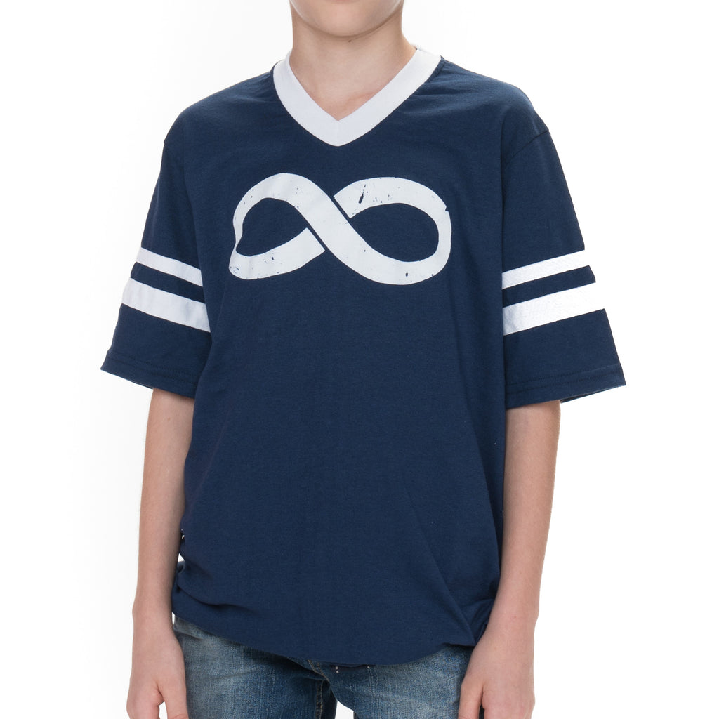Youth Infinity Jersey Short Sleeved Graphic T-Shirt - Navy